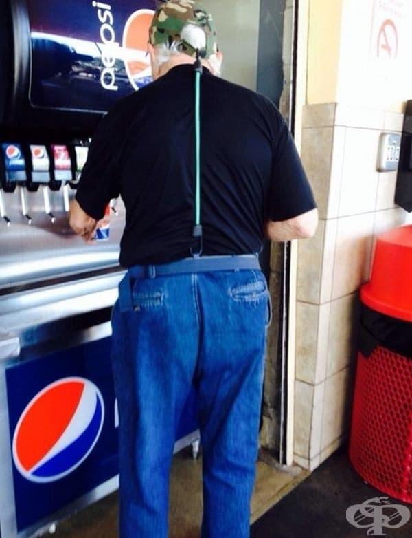 Ето така няма да загубите нито шапката, нито панталоните си.