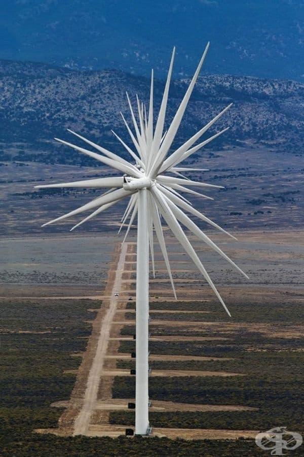 Ултраефективна вятърна турбина с още повече перки.