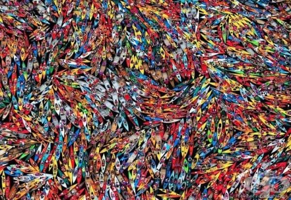 Най-големият пристан за канута и каяци в света, Ню Йорк, САЩ. (Снимка: Нанси Батаглия)