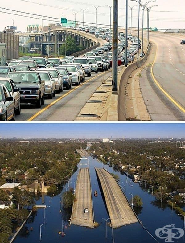 Ураганът Катрин – един от най-опустошителните урагани в историята на САЩ, 2005 г. Той е причинил най-много материални щети, нанесъл е нарушения на площ от 233 000 кв. км, отнел е живота на около 10 000 души.