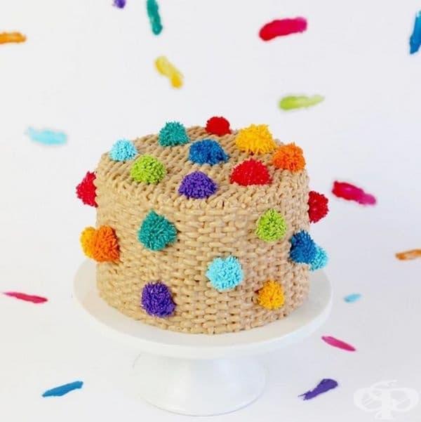 Цветни торти, които приличат много на пухкави килими