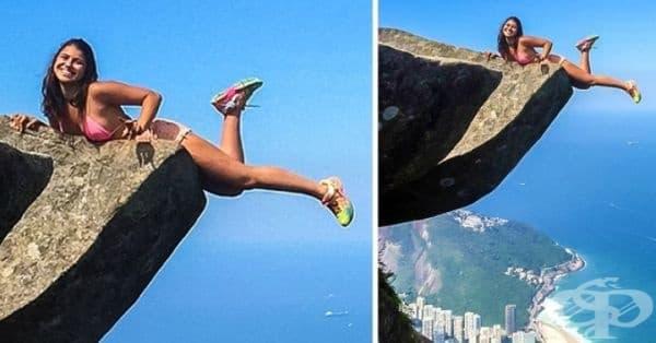 Снимка на скалата Педра да Гавеа в Рио де Жанейро. Това е една от най-високите крайбрежни скали в Бразилия.