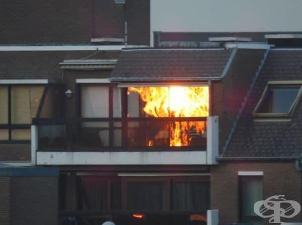 В този случай не е нужно да се търси помощта на пожарната. За всичко е виновно Слънцето.