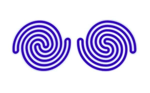 Посочете коя от спиралите се състои от две отделни части