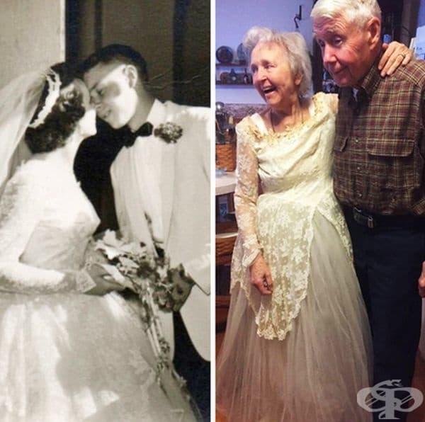 """""""63 години по-късно и баба ми все още може да се впише в сватбената си рокля!"""""""