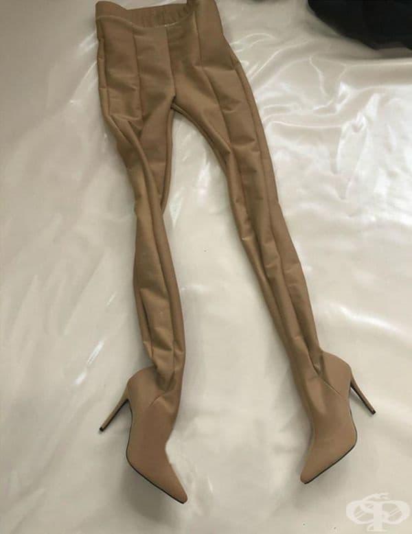 Панталон, който не е нужно да съчетавате с обувки.