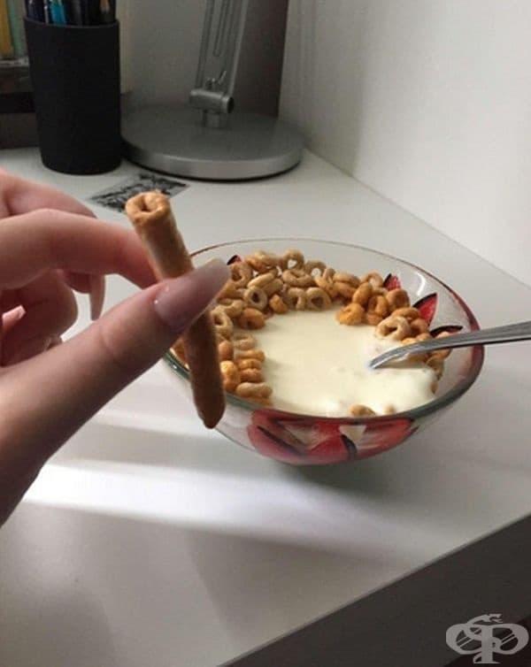 Една дълга зърнена закуска.