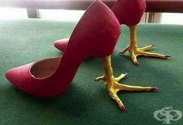 Обувки за кокошки.