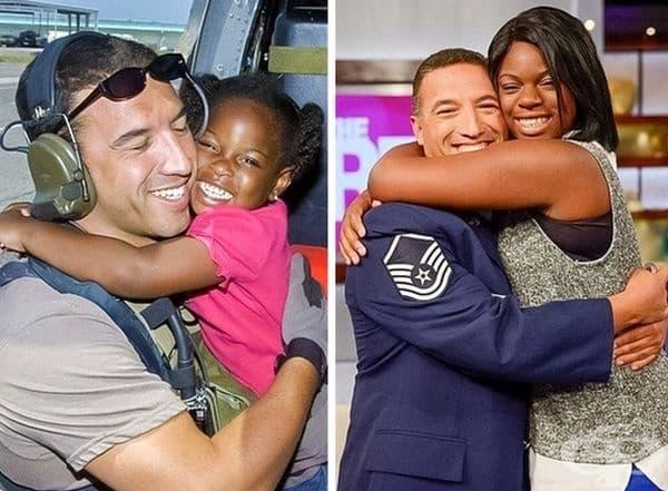 Този човек е спасил момичето по време на урагана Катрин. Това е първата им среща след 10 г.