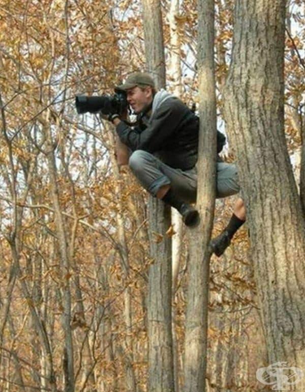 Фотографията не е лесна работа.