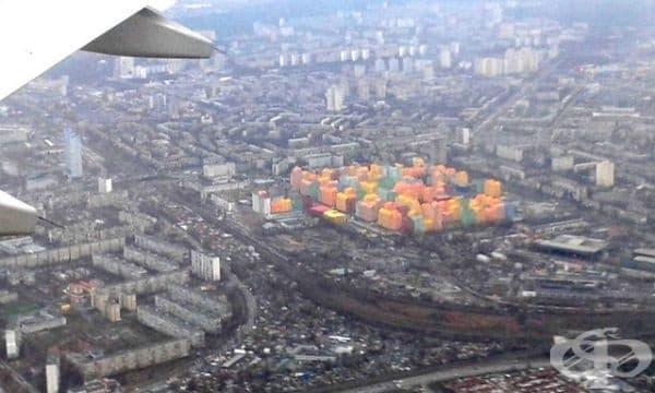 Цветен квартал в Киев.