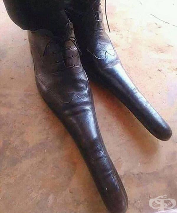Когато сте установили, че издължените обувки са модерни.