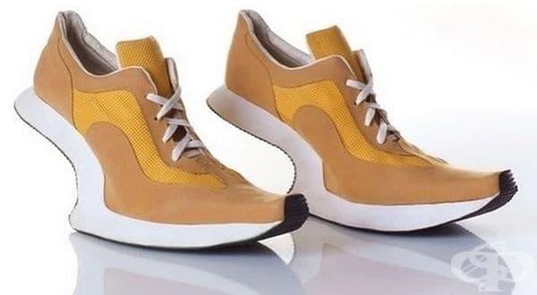 Устойчивостта на тези обувка е малко съмнителна.