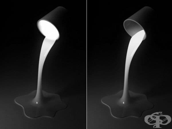 Лампа, която буквално излива светлина.