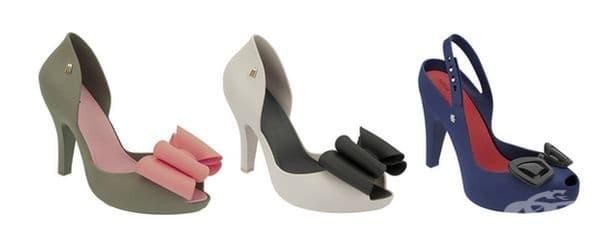 Немският дизайнер Карл Лагерфелд реши да продължи развитието на кроксовете и създаде модели на ток.