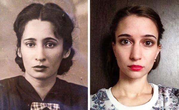 Баба и правнучка.