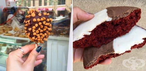 Кейк на пръчка от William Greenberg Desserts.