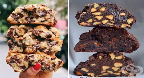 Бисквити с шоколадово и фъстъчено масло от Levain Bakery.