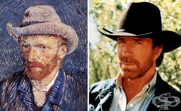 Картина на Ван Гог и Чък Норис имат добра прилика.