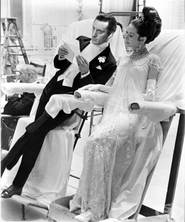 """Рекс Харисън и Одри Хепбърн във филма """"Моята прекрасна лейди"""" през 60-те години."""