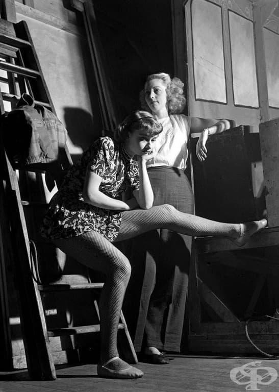 Одри Хепбърн по време на прослушване в Лондон през 1948 г.