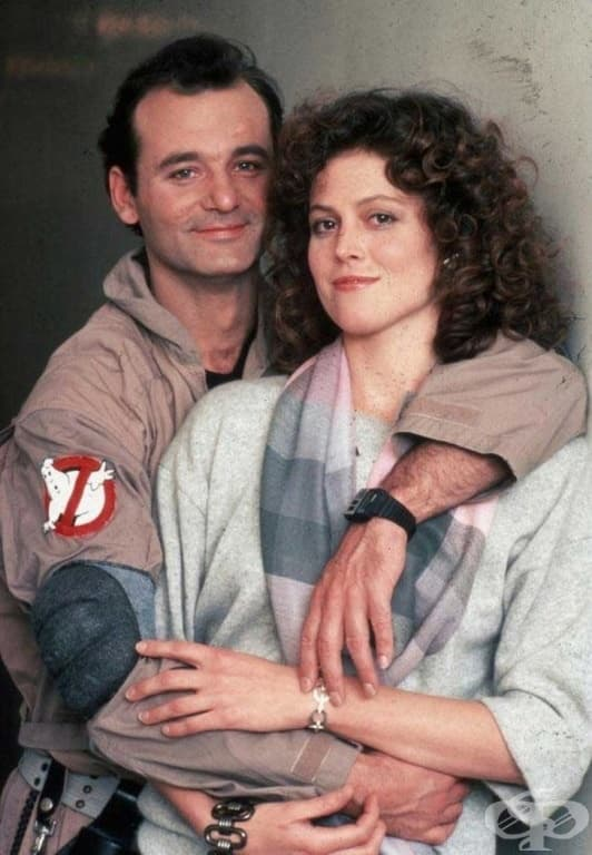 Бил Мъри и Сигорни Уивър, 1984г.