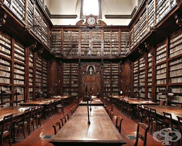 """Библиотека """"Марусилиана"""" във Флоренция, Италия."""