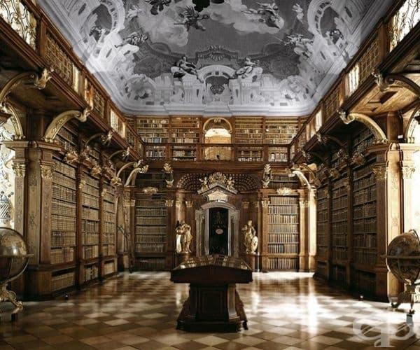 Библиотека в Абатство Мелк, Австрия.