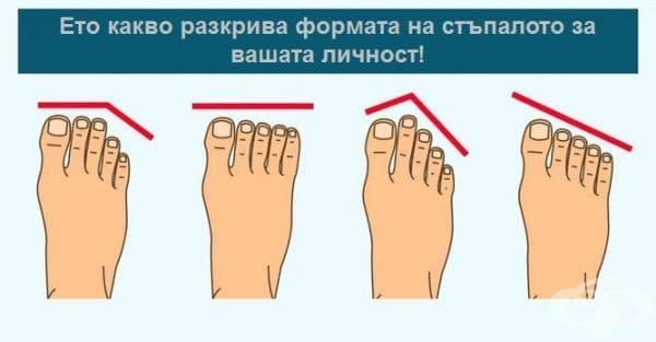 Формата на стъпалата разкрива много за вашия характер