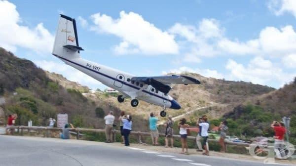 Летище Свети Барт на остров Саба.