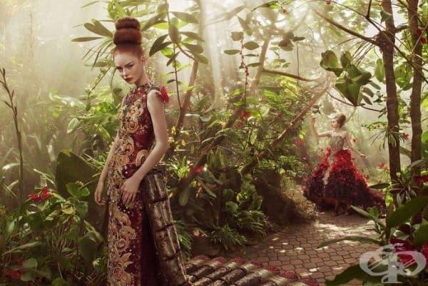 Модели на китайската дизайнерка Гуо Пей във фентъзи царство