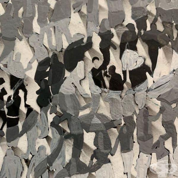 8 картини, изпълнени с интересни фигури, видими само при увеличение
