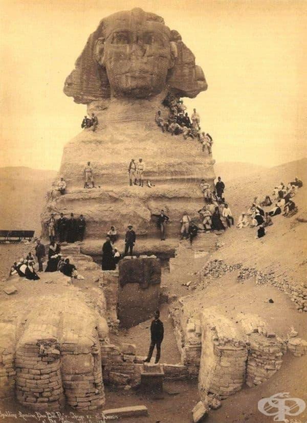 Разкопки покрай свинкса,  около 1850 г.