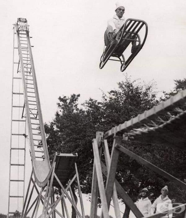 Шейна в ски скок, Лондон, 1933г.