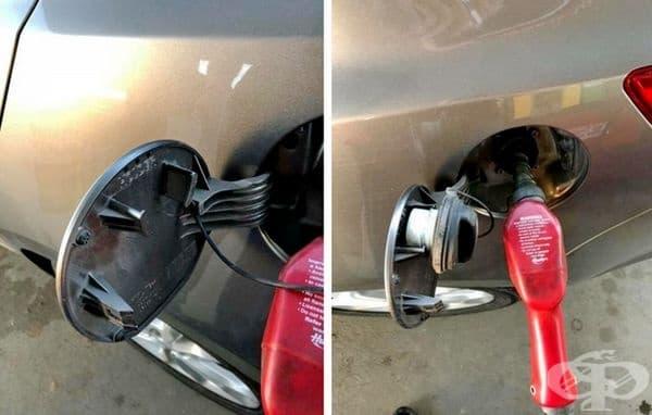 Знаете ли, че този държател на капака всъщност е за газ капачка?
