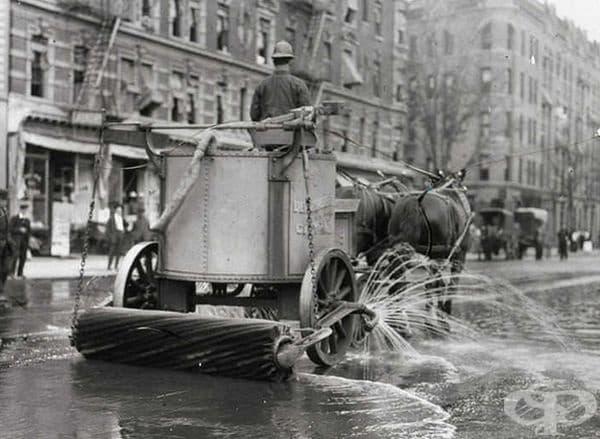 Почистване на улица в Ню Йорк, 1906 г.