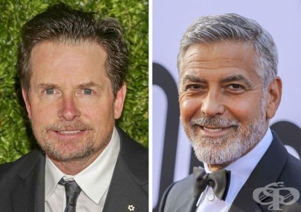 Майкъл Джей Фокс и Джордж Клуни: 57 години