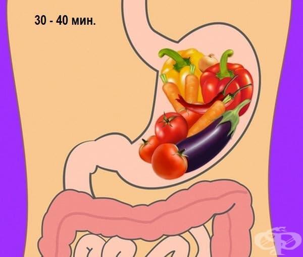 Сурови зеленчуци - 30-40 минути