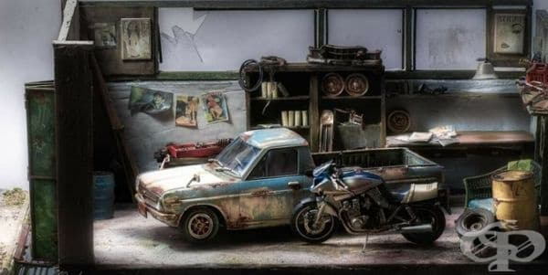 Художник пресъздава спомени и сцени в реалистични диорами
