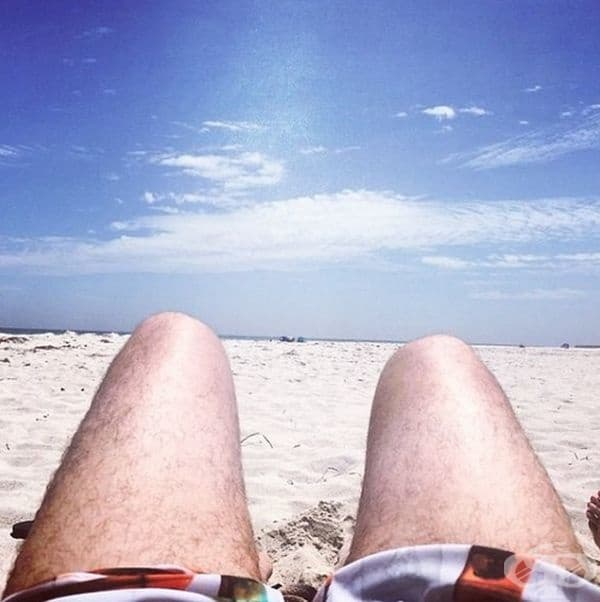 Когато сте на плажа.