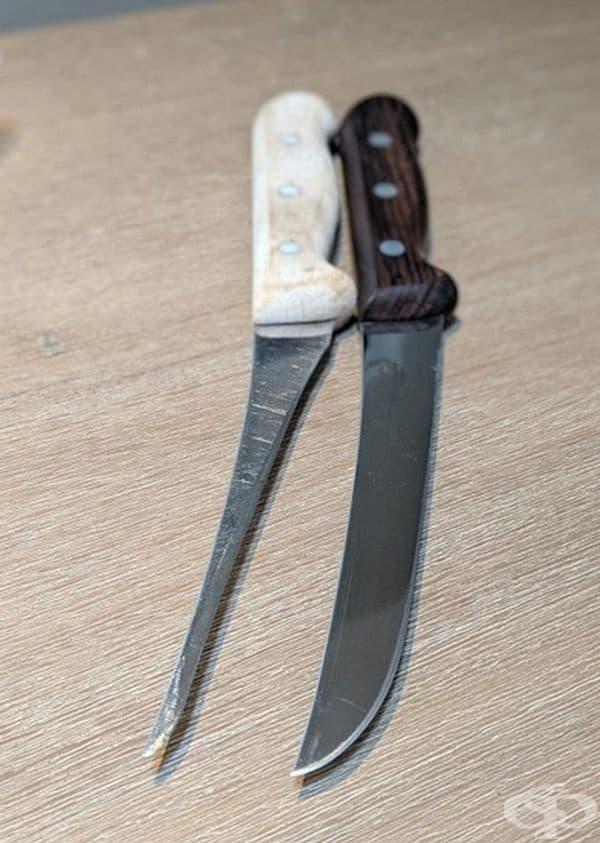 20-годишен нож в сравнение с чисто нов