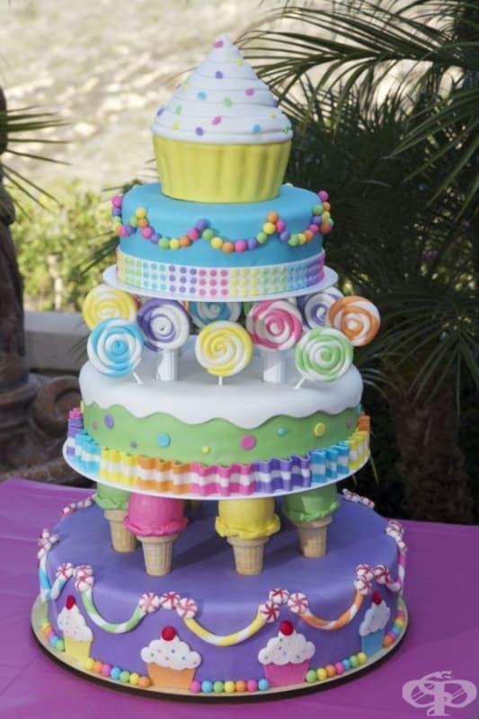 """Торта """"Сладки лакомства""""."""
