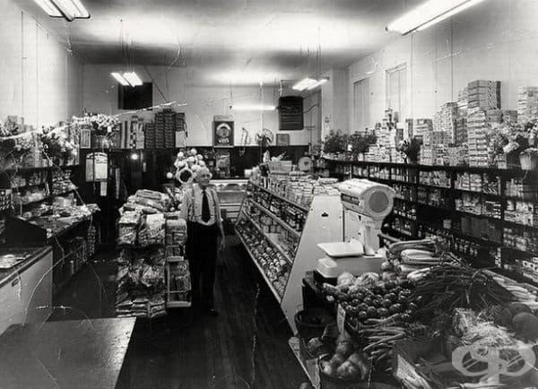 Супермаркет в Евансил, IN, 1960 г.