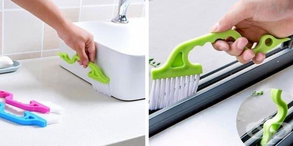 Тази малка четка може да достигне до места, които обикновено са невъзможни за почистване.