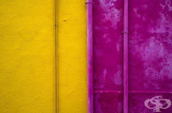 Анотация на цветна стена в Бурано.