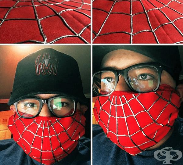 Маска за феновете на Spider-Man.