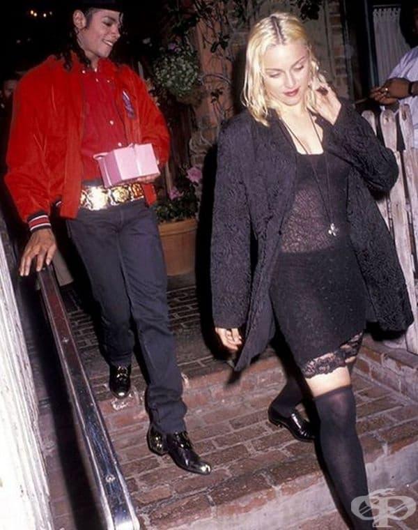Майкъл Джексън и Мадона през 1991 г.