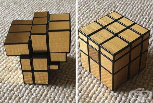 Пъзел на основата на куб на Рубик, основан на размера и формата, а не на цвета.