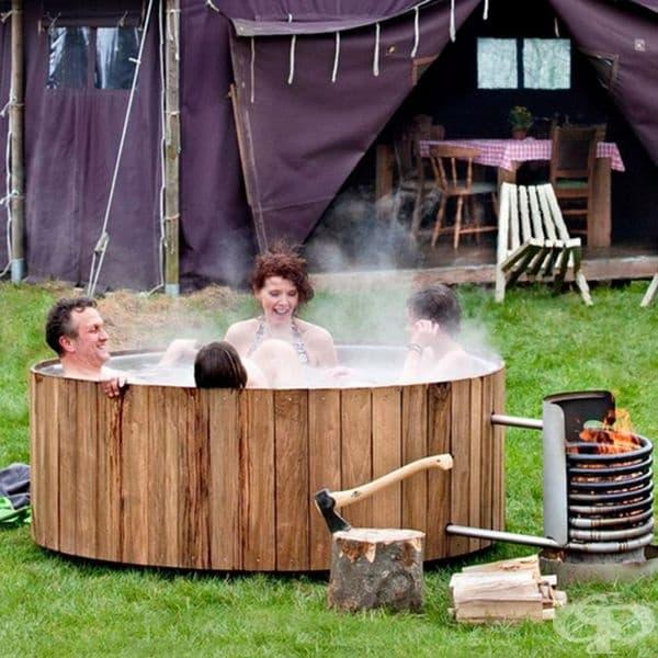Уютна хидромасажна вана.