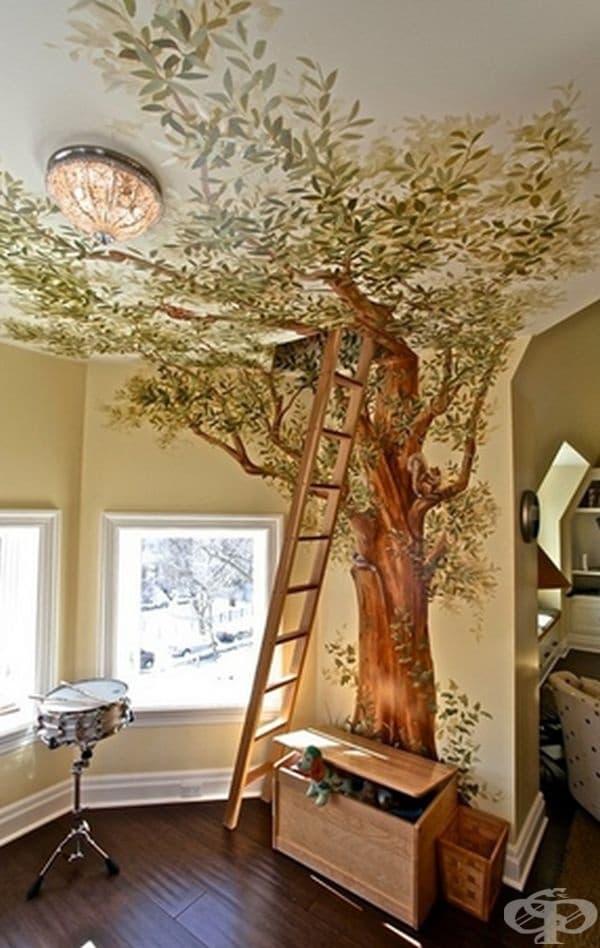 Стълба към тайна таванска стая може да превърне пространството в приказен сюжет.